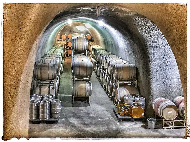 underground wine storage